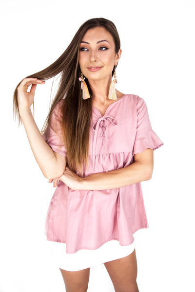 Pink BabyDoll Top