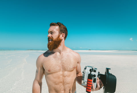 Beard Wanderlust Travel blue sky