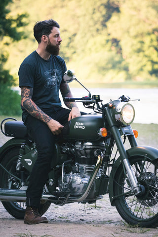 Beard Man Travel Wanderlust Motorbike