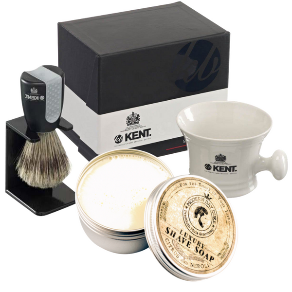 Modern Day Duke Shaving Cream and Kent Porcelain shaving mug