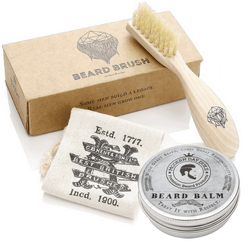 Handmade Beard Brush & Classic Beard Balm Combo - Modern Day Duke
