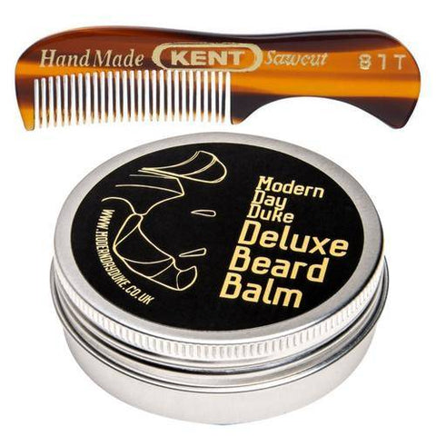 Kent Moustache & Beard Comb with Modern Day Duke Beard Balm
