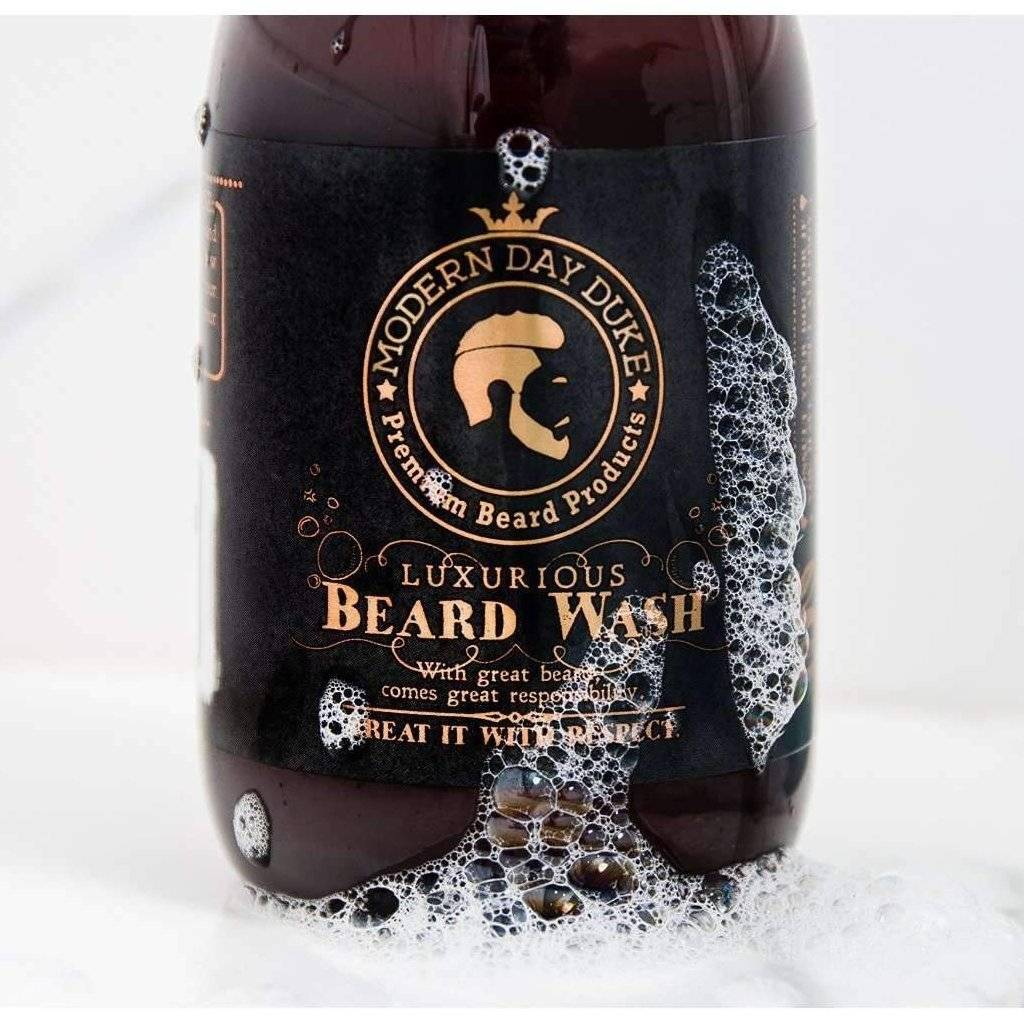 Beard Wash Shampoo Suds Close Up