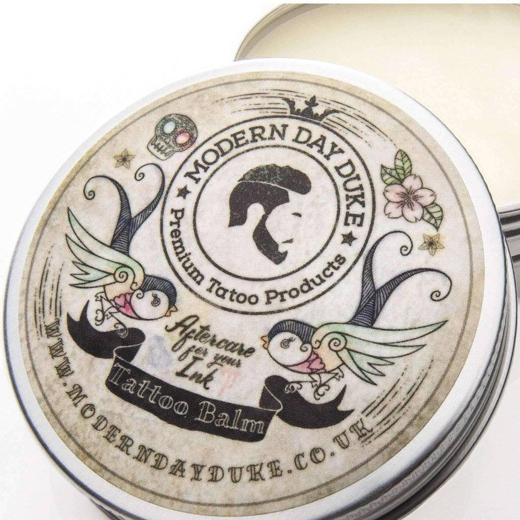 Tattoo Care Balm Open Tin Angle