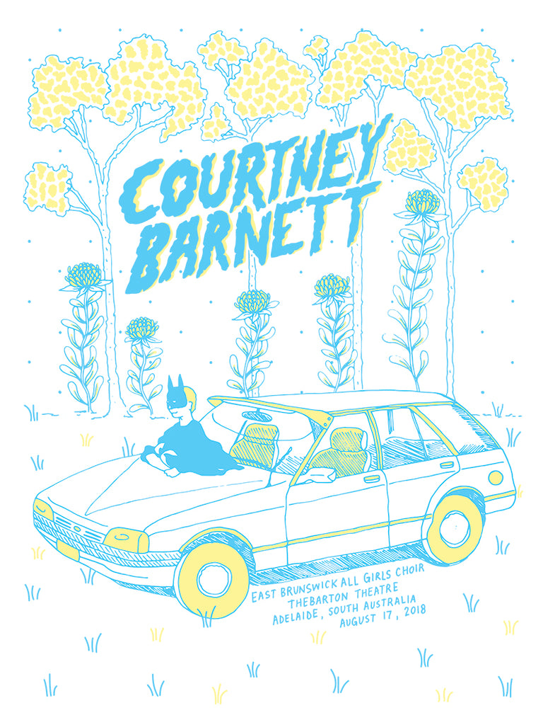 COURTNEY BARNETT [ADELAIDE - 17 AUGUST 2018 - ERIN O'BRIEN] Assorted Tour Posters
