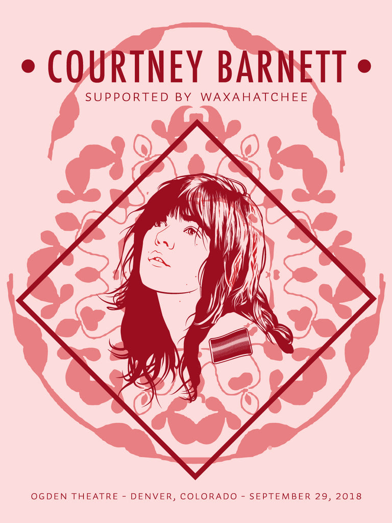 COURTNEY BARNETT [DENVER - 29 SEPTEMBER 2018 - EMILY VANDERLISM] Assorted Tour Posters