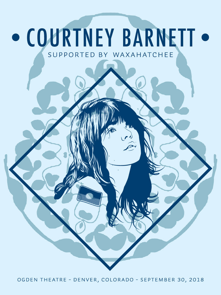 COURTNEY BARNETT [DENVER - 30 SEPTEMBER 2018 - EMILY VANDERLISM] Assorted Tour Posters