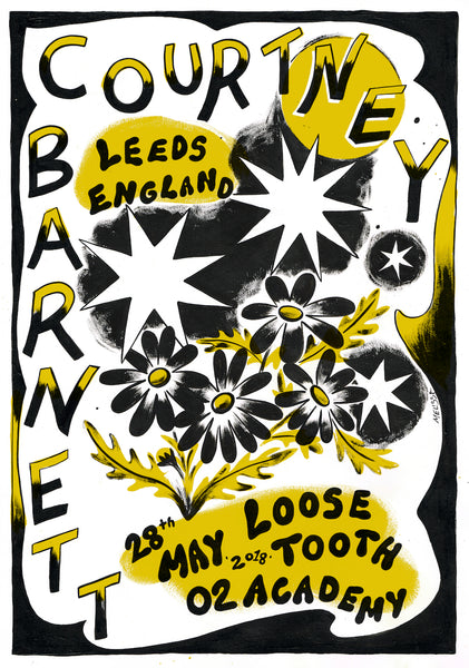 COURTNEY BARNETT [LEEDS - 28 MAY 2018 - MEL GRISANCICH] Assorted Tour Posters