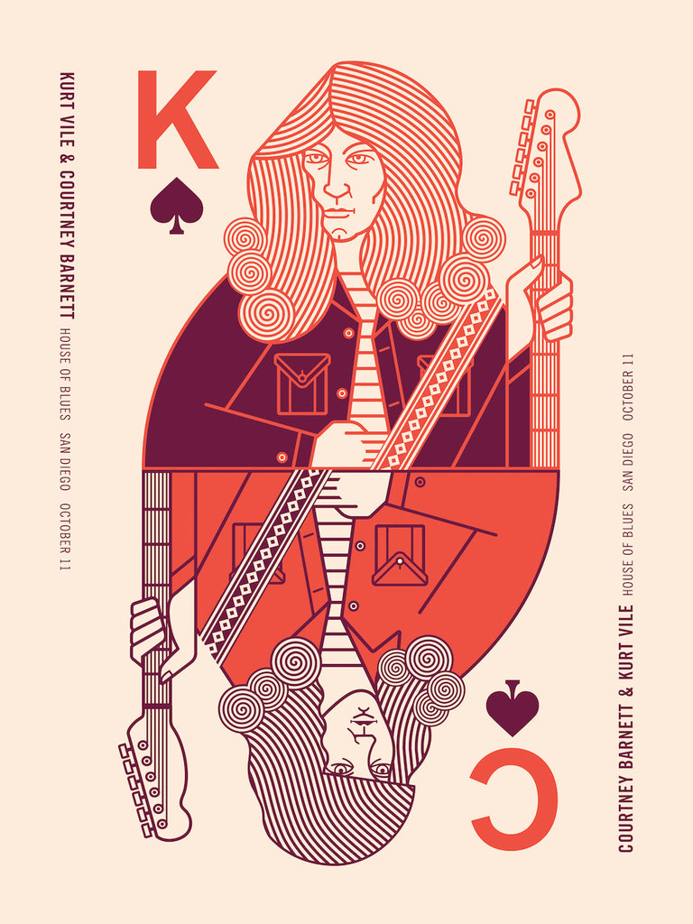 COURTNEY BARNETT AND KURT VILE [SAN DIEGO - 11 OCTOBER 2017 - BRIAN DANAHER] Assorted Tour Posters