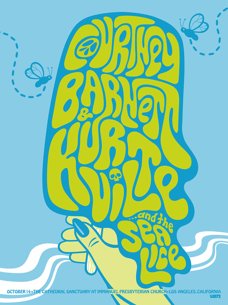 COURTNEY BARNETT AND KURT VILE [LOS ANGELES - 14 OCTOBER 2017 - WEIRD BEARD] Assorted Tour Posters