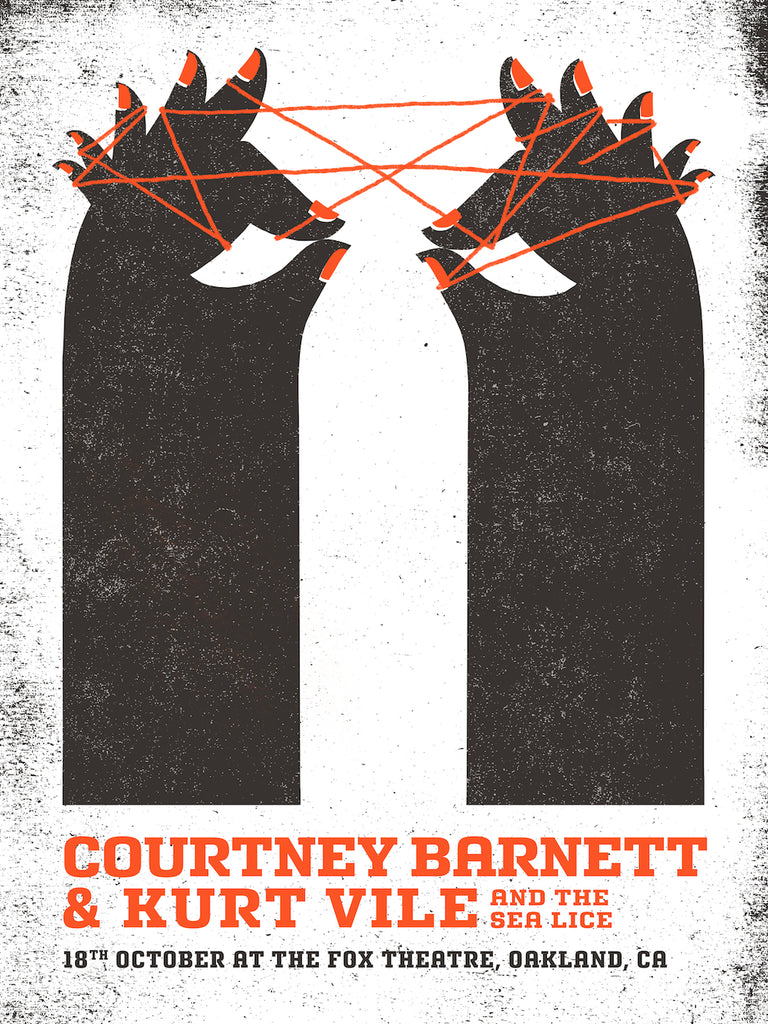 COURTNEY BARNETT AND KURT VILE [OAKLAND - 18 OCTOBER 2017 - CELESTE POTTER] Assorted Tour Posters