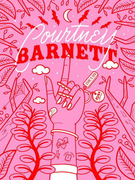 COURTNEY BARNETT [BERLIN - 11 JUNE 2018 - ELLEN PORTEUS] Assorted Tour Posters