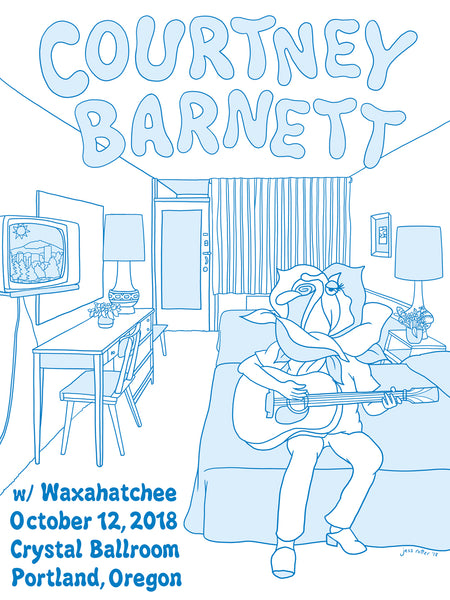 COURTNEY BARNETT [PORTLAND - 12 OCTOBER 2018 - JESS ROTTER] Assorted Tour Posters