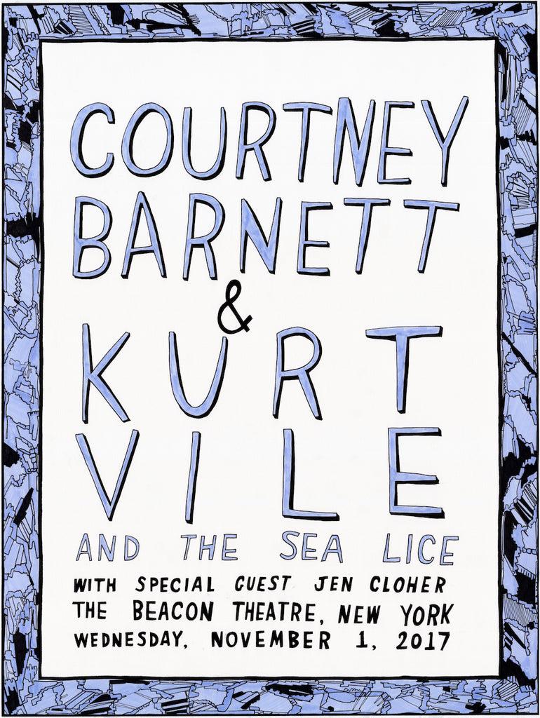 COURTNEY BARNETT AND KURT VILE [NEW YORK - 1 NOVEMBER 2017 - ABBI JACOBSON] Assorted Tour Posters