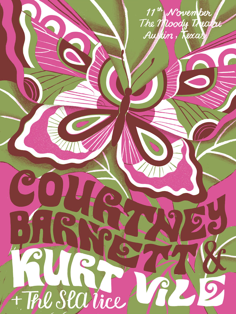 COURTNEY BARNETT AND KURT VILE [AUSTIN - 11 NOVEMBER 2017 - TATIANA BOYKO] Assorted Tour Posters