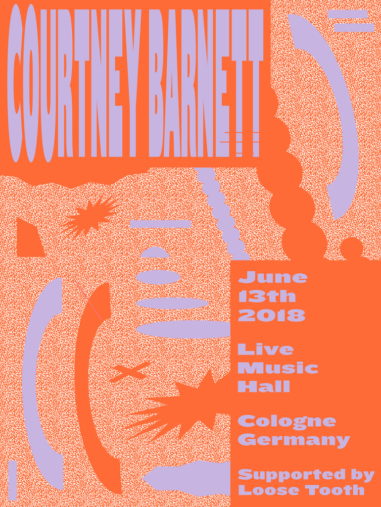 COURTNEY BARNETT [COLOGNE - 13 JUNE 2018 - MARTA VELUDO] Assorted Tour Posters