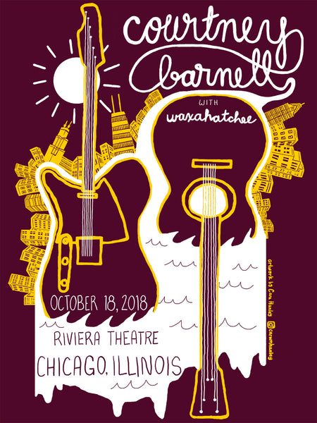COURTNEY BARNETT [CHICAGO - 18 OCTOBER 2018 - CARA HANLEY] Assorted Tour Posters