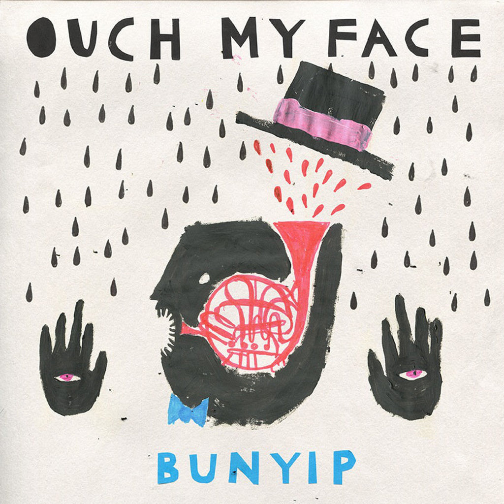 "OUCH MY FACE Bunyip. 12"" VINYL, CASSETTE, DIGITAL. Official merchandise exclusive to Milk! Records Store."