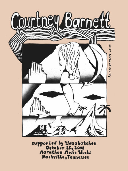 COURTNEY BARNETT [NASHVILLE - 25 OCTOBER 2018 - HANNE JATHO] Assorted Tour Posters