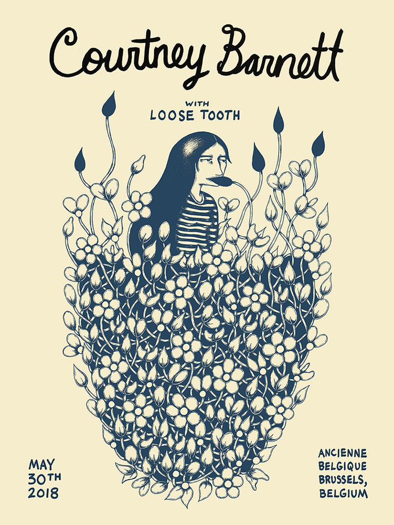 COURTNEY BARNETT [BELGIUM - 30 MAY 2018 - MEL KADEL] Assorted Tour Posters