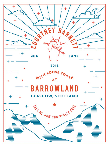 COURTNEY BARNETT [GLASGOW - 2 JUNE 2018 - SIAN MACFARLANE] Assorted Tour Posters