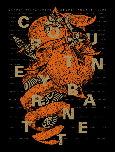 COURTNEY BARNETT [SYDNEY - 23 AUGUST 2018 - ANNIE WALTER] Assorted Tour Posters