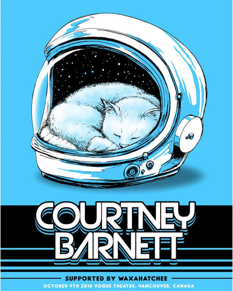 COURTNEY BARNETT [VANCOUVER - 9 OCTOBER 2018 - BARRY BLANKENSHIP] Assorted Tour Posters