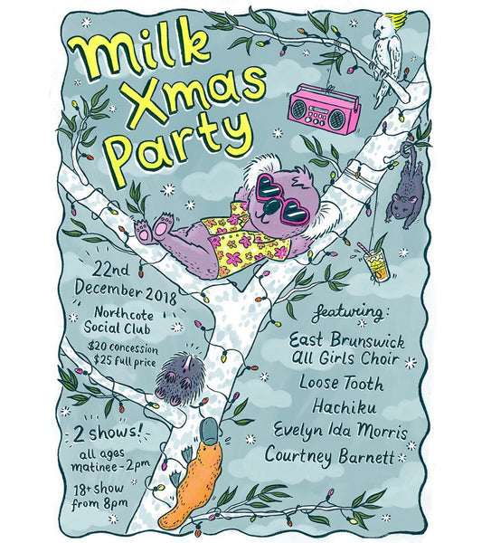 MILK! RECORDS [XMAS PARTY 2018] *SIGNED* Assorted Tour Posters