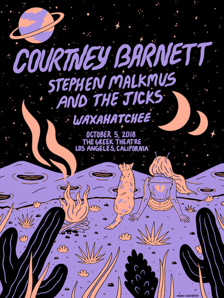 COURTNEY BARNETT [LOS ANGELES - 5 OCTOBER 2018 - ROBIN EISENBERG] Assorted Tour Posters