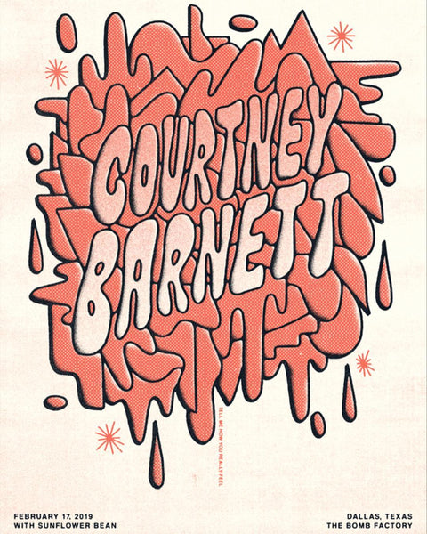 COURTNEY BARNETT [DALLAS - 17 FEBRUARY 2019 - THE HALF AND HALF] Assorted Tour Posters