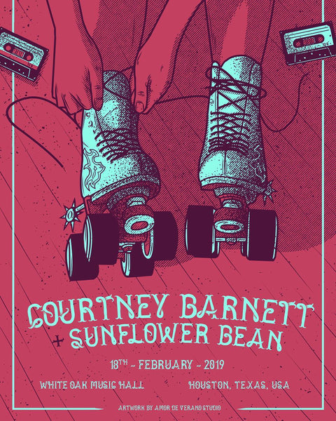 COURTNEY BARNETT [HOUSTON - 18 FEBRUARY 2019 - AMOR DE VERANO] Assorted Tour Posters