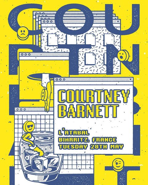 COURTNEY BARNETT [BIARRITZ - 28 MAY 2019 - ANNIE WALTER] Assorted Tour Posters