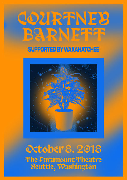 COURTNEY BARNETT [SEATTLE - 8 OCTOBER 2018 - CHRISSIE ABBOTT] Assorted Tour Posters