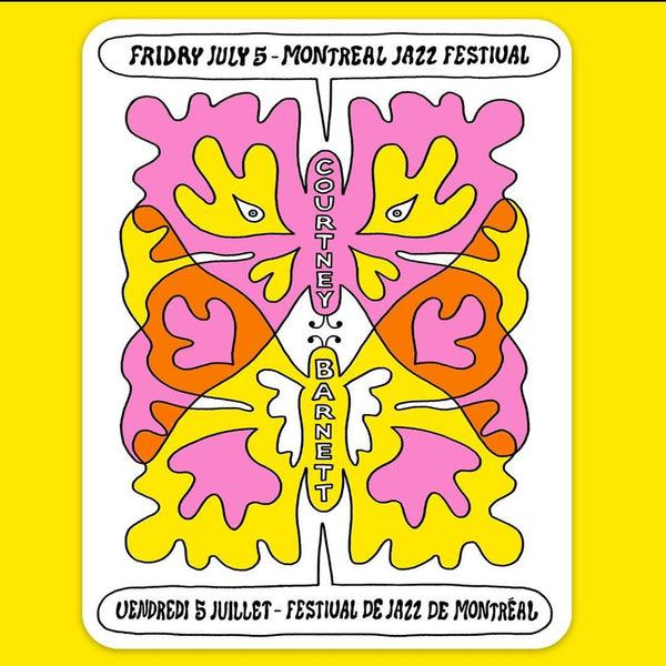COURTNEY BARNETT [MONTREAL JAZZ FESTIVAL - 5 JULY 2019 - ALESS MC] Assorted Tour Posters