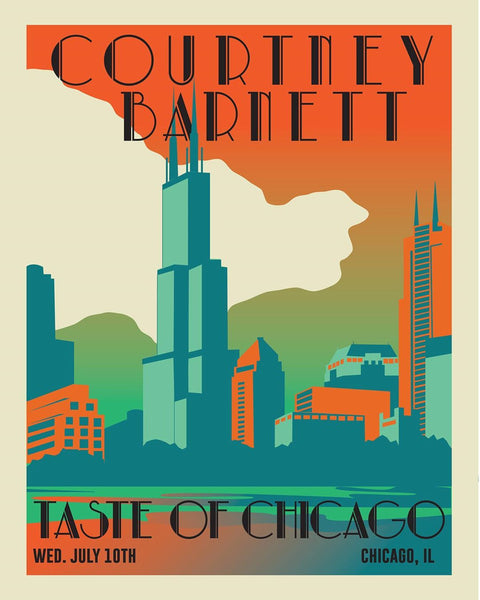 COURTNEY BARNETT [CHICAGO - 10 JULY 2019 - BEE HARRIS] Assorted Tour Posters