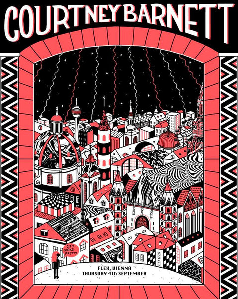 COURTNEY BARNETT [VIENNA - 4 SEPTEMBER 2019 - LUCIA CORDERO] Assorted Tour Posters