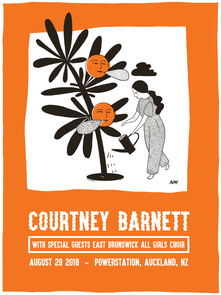 COURTNEY BARNETT [AUCKLAND - 29 AUGUST 2018 - NATASHA MICHELS] Assorted Tour Posters