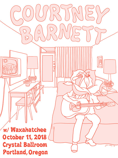 COURTNEY BARNETT [PORTLAND - 11 OCTOBER 2018 - JESS ROTTER] Assorted Tour Posters
