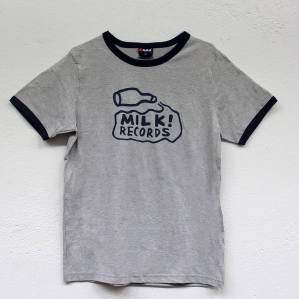 "MILK! RECORDS ""Classic Milk Ringer"" TSHIRT [GREY MARLE/NAVY]"