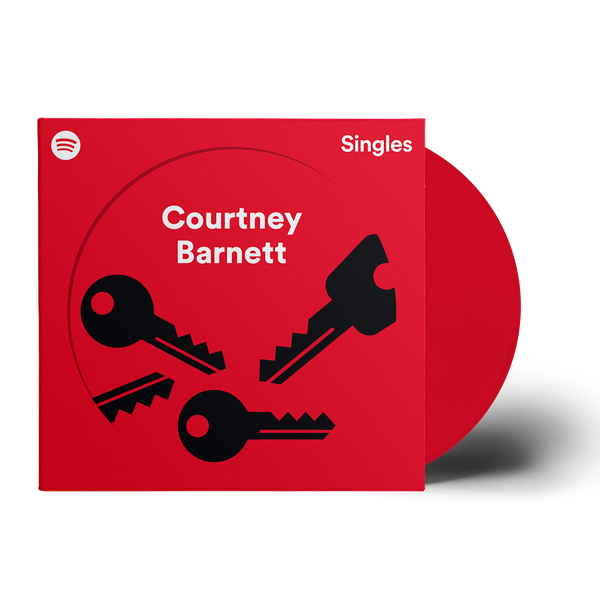 "COURTNEY BARNETT Houses / Charity 7"" VINYL (RED VINYL)"