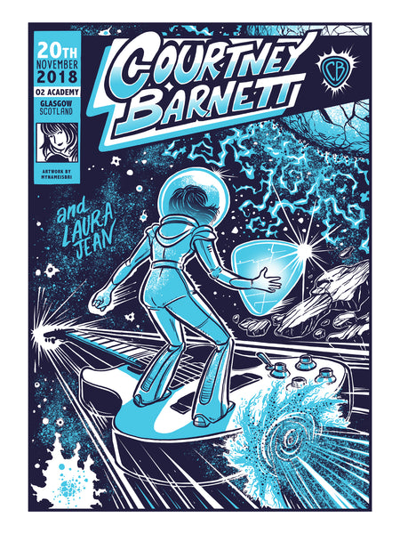 COURTNEY BARNETT [GLASGOW - 20 NOVEMBER 2018 - SABRINA GABRIELLI] Assorted Tour Posters