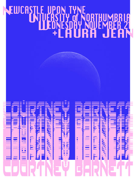 COURTNEY BARNETT [NEWCASTLE - 21 NOVEMBER 2018 - SPACETIME MARTINI] Assorted Tour Posters