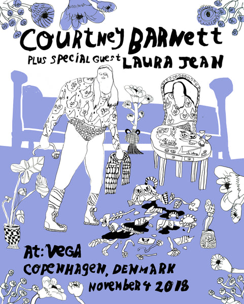 COURTNEY BARNETT [COPENHAGEN - 4 NOVEMBER 2018 - TARA BOOTH] Assorted Tour Posters