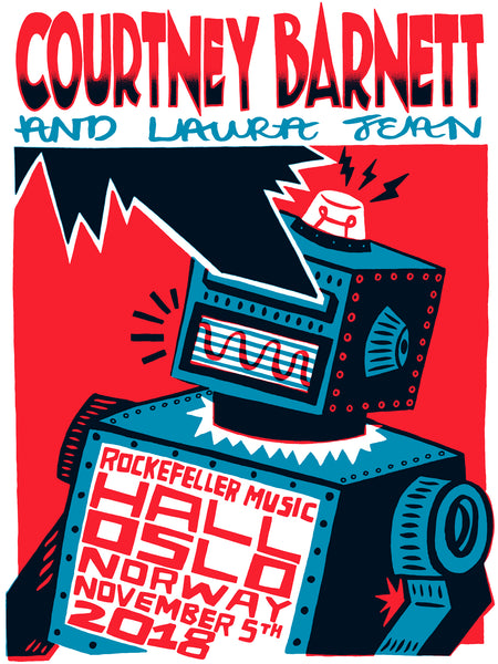 COURTNEY BARNETT [OSLO - 5 NOVEMBER 2018 - CHARLIE GOULD] Assorted Tour Posters