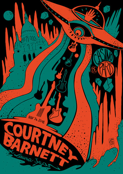 COURTNEY BARNETT [PARIS - 7 NOVEMBER 2018 - JULIE OLIVIER] Assorted Tour Posters