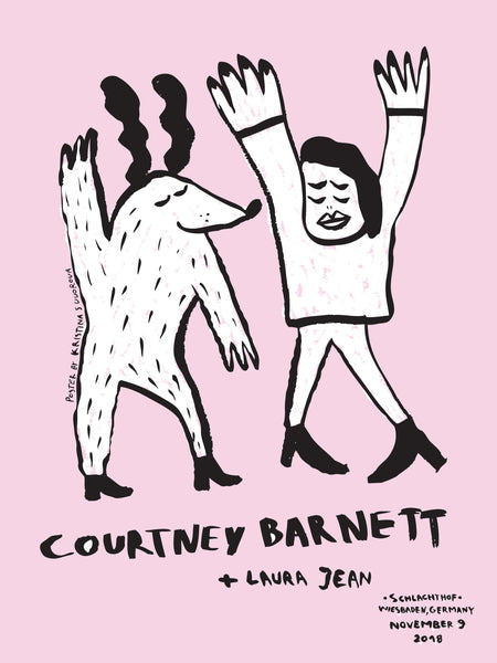 COURTNEY BARNETT [WIESBADEN - 9 NOVEMBER 2018 - KRISTINA SUVOROVA] Assorted Tour Posters