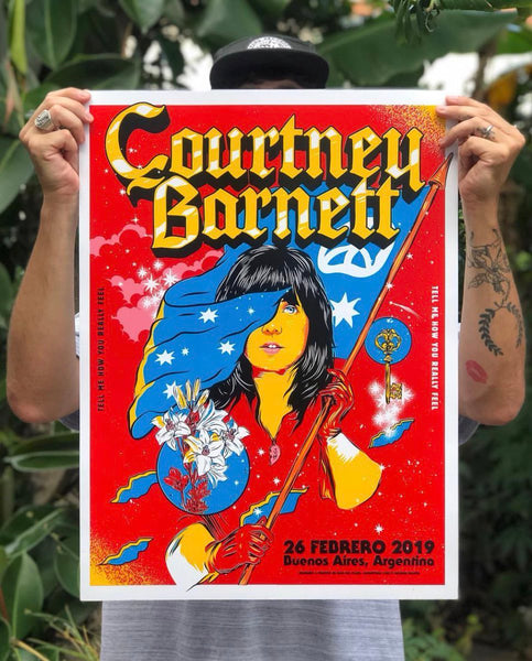 COURTNEY BARNETT [BUENOS AIRES - 26 FEBRUARY 2019 - GEORGE MANTA] Assorted Tour Posters