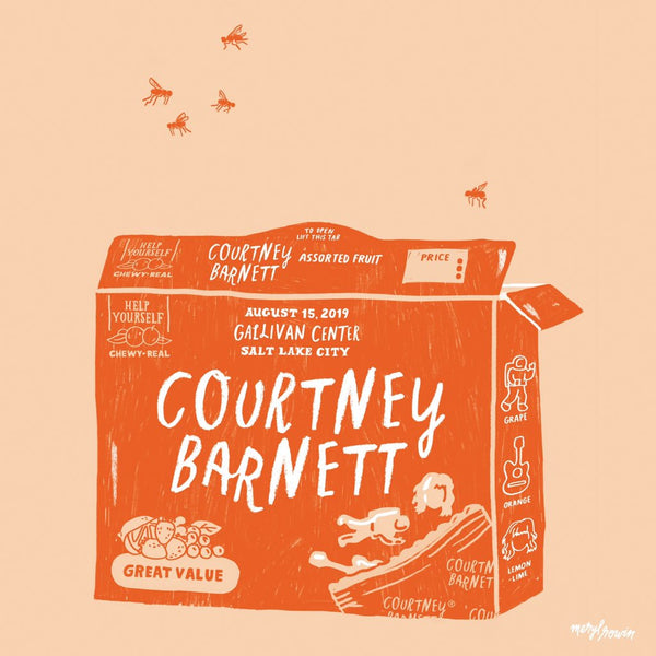 COURTNEY BARNETT [SALT LAKE CITY - 15 AUGUST 2019 - MERYL ROWIN] Assorted Tour Posters