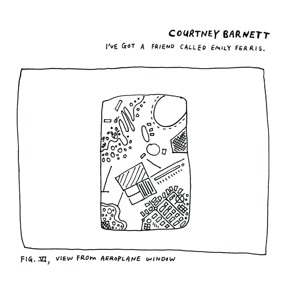 "COURTNEY BARNETT I've Got A Friend Called Emily Ferris EP. 10"" VINYL, CD, DIGITAL. Official merchandise exclusive to Milk! Records Store."