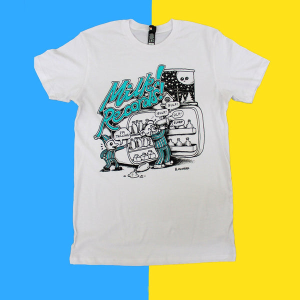 MILK! RECORDS Ben Montero [ARTIST SERIES] TSHIRT (WHITE)
